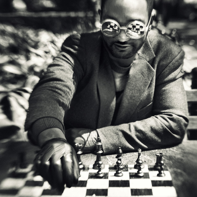 """""""The Chess King"""" stock image"""