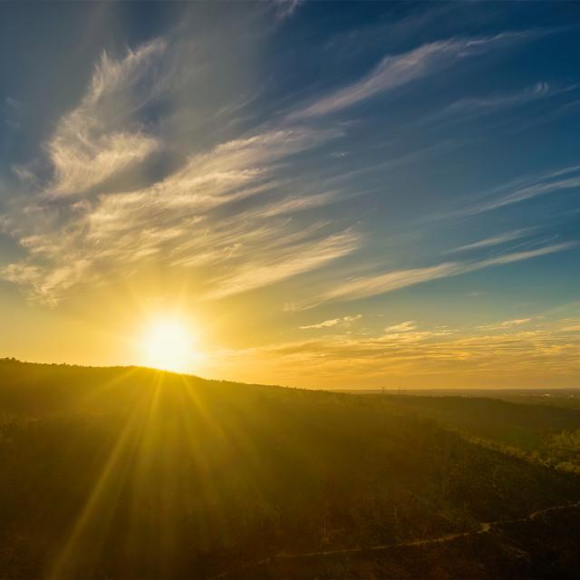 """""""Sunset over Bushland Ridge"""" stock image"""