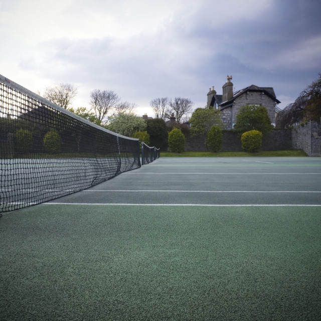 """""""It was too dark for tennis"""" stock image"""