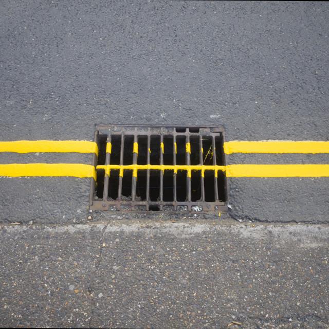 """Double yellow lines"" stock image"