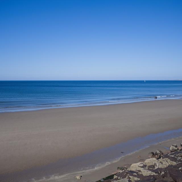 """Peel beach on the west coast of the Isle of Man"" stock image"