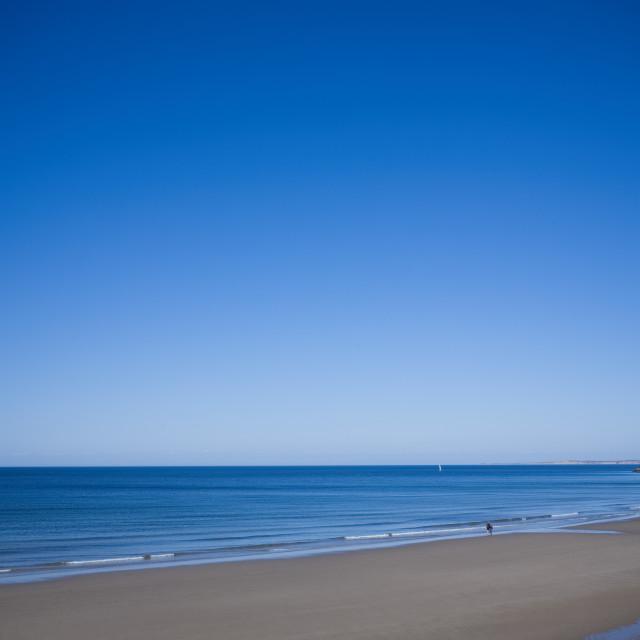 """The perfect beach shot"" stock image"
