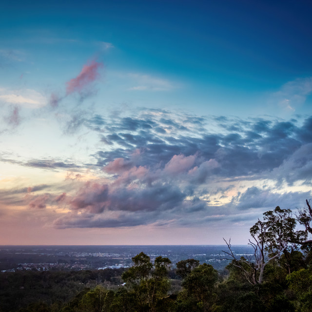 """""""Sunset Clouds from The Darling Range"""" stock image"""