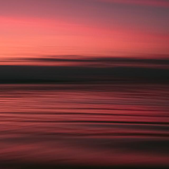 """Salish Sea sunset"" stock image"