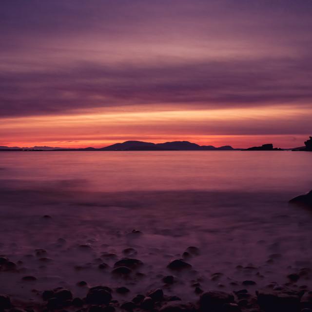 """Larrabee Park sunset"" stock image"