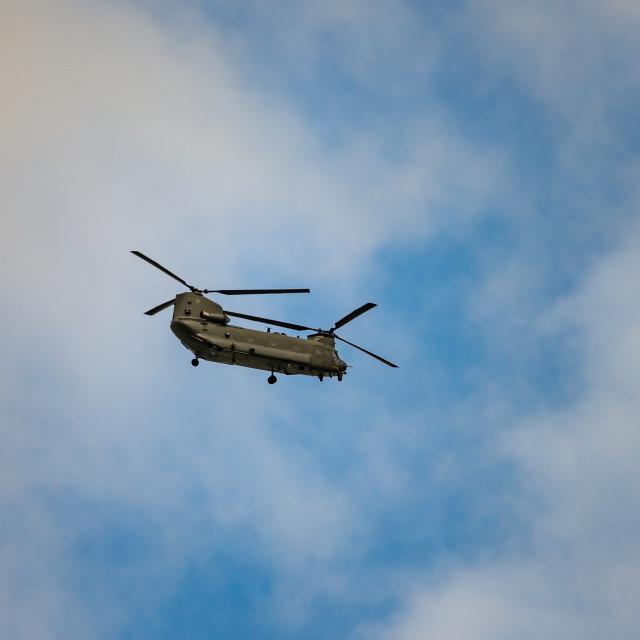 """""""Chinook Flypast Denton Lane"""" stock image"""