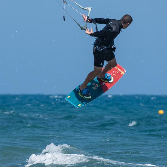 """""""Kitesurfing"""" stock image"""