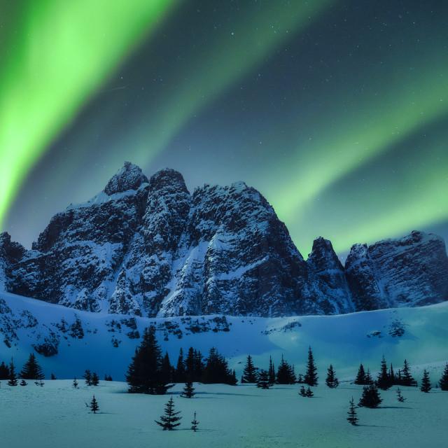 """""""Tonquin Aurora"""" stock image"""