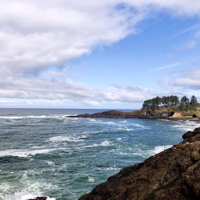 """Vista Along the Coast"" stock image"