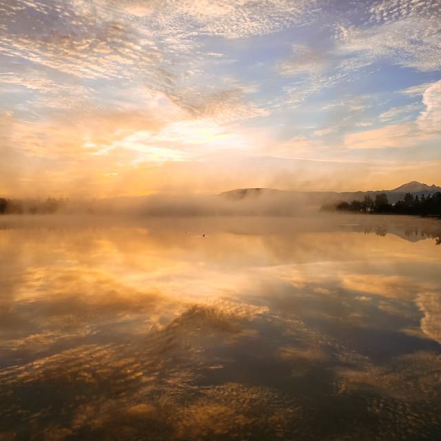 """""""Wiser Lake Sunrise"""" stock image"""