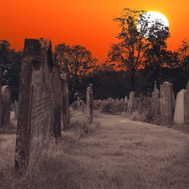 """""""Old graves at doomsday"""" stock image"""