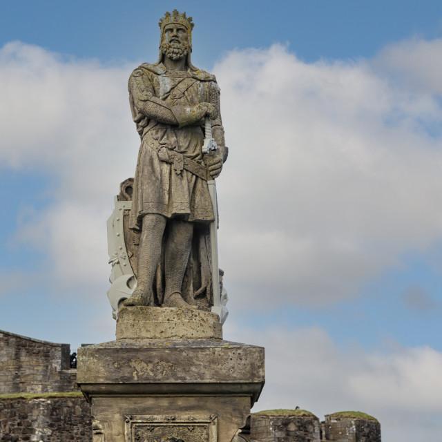 """Statue of Robert I of Scotland"" stock image"