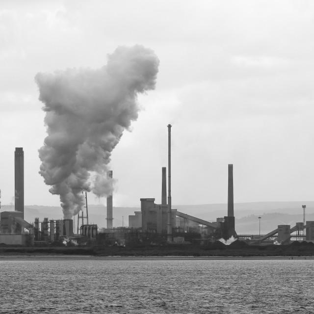 """""""Teesside Steel Works"""" stock image"""