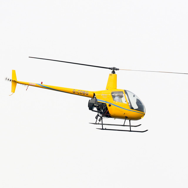 """""""Helicopter at Newcastle Airport"""" stock image"""
