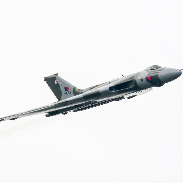 """Vulcan Bomber at Newcastle Airport"" stock image"