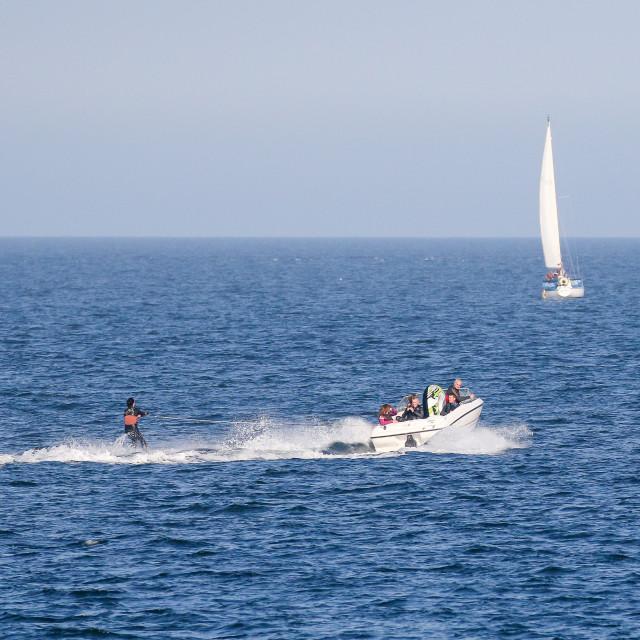 """Water Skiing"" stock image"