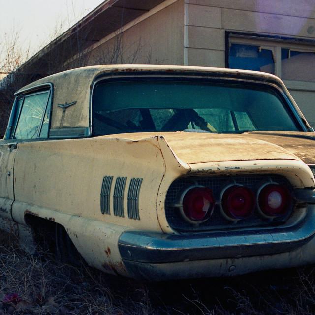"""1960 Thunderbird 4"" stock image"