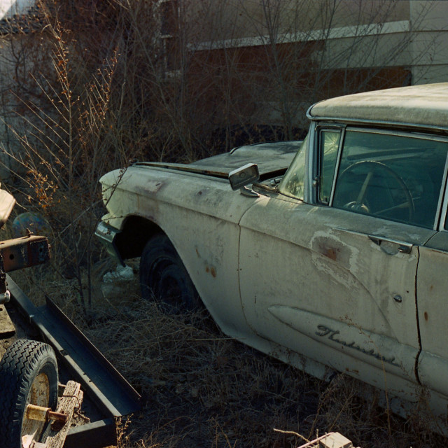 """1960 Thunderbird 3"" stock image"