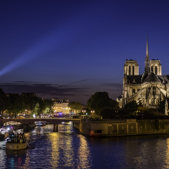 """""""Notre dame Cathedral at night"""" stock image"""