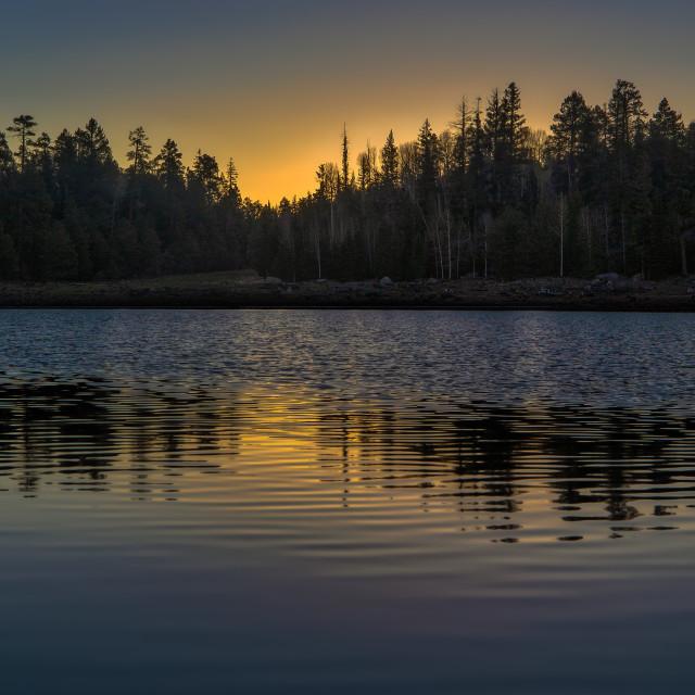 """landscape-photograph-sitgreaves-white mountains-aone lake-sunrise"" stock image"