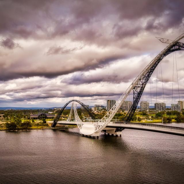 """""""Matagarup Bridge, East Perth"""" stock image"""