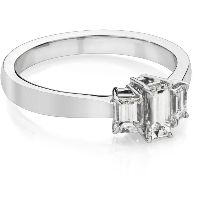 """""""Three stone diamond ring"""" stock image"""