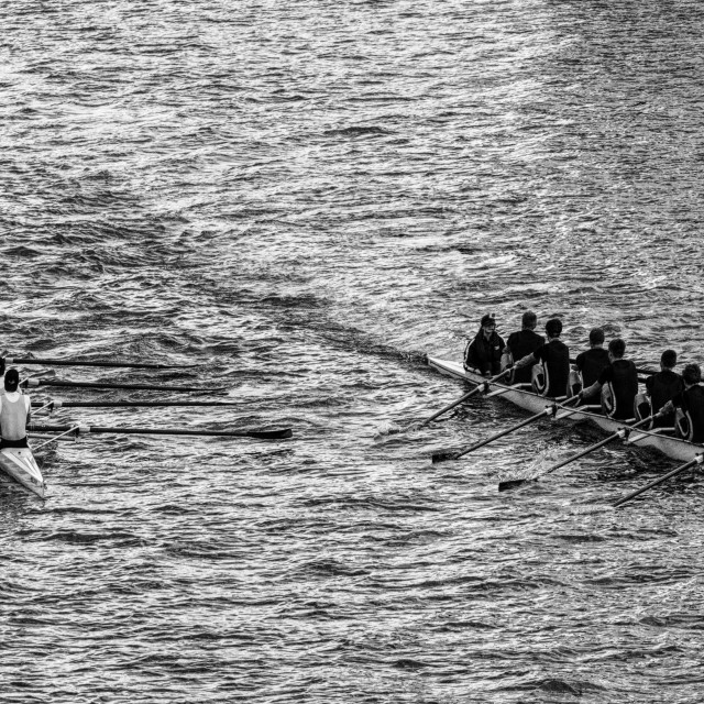 """""""Rowing On The River Clyde"""" stock image"""