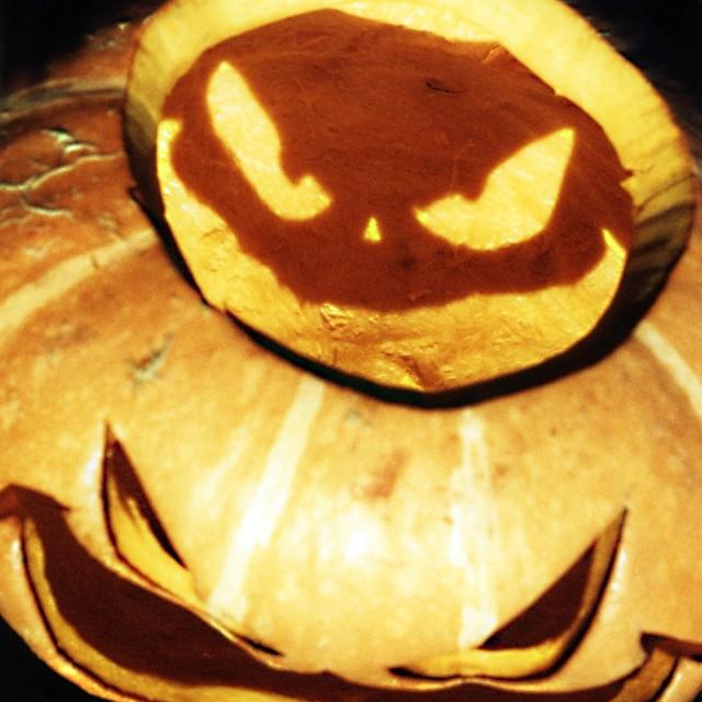 """Pumpkin faces"" stock image"