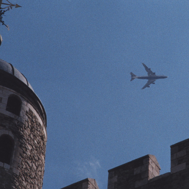 """""""Flying over the tower"""" stock image"""