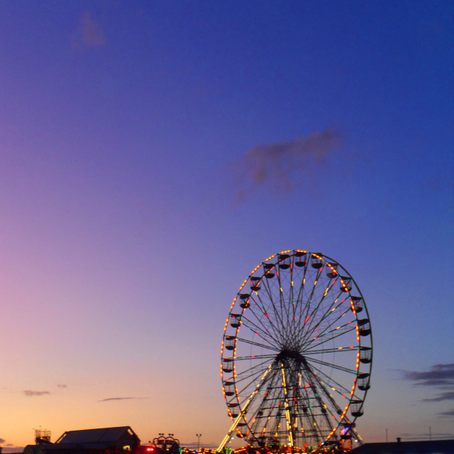 """""""Evening over Blackpool"""" stock image"""