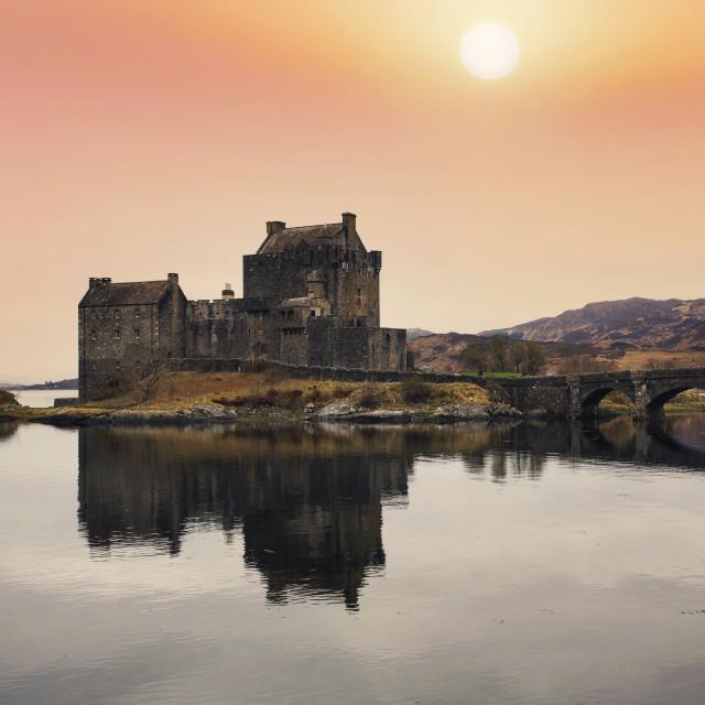 """Eilean Donan Castle, Good Friday 2021"" stock image"