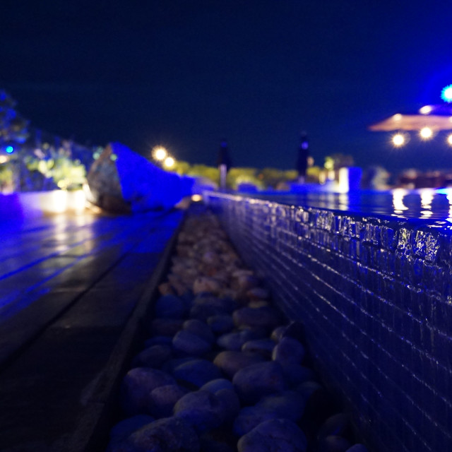 """""""Blue Water at Night"""" stock image"""