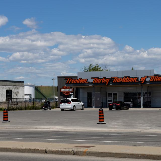 """""""Freedom Harley-Davidson of Ottawa motorcycle dealership"""" stock image"""