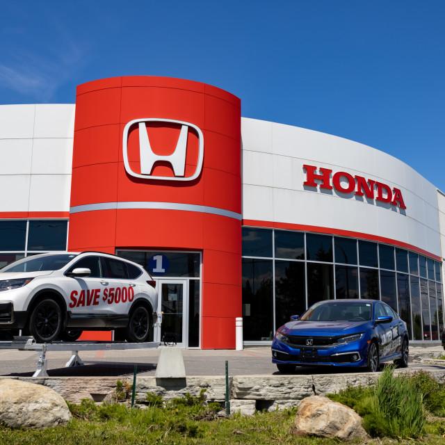 """Honda Dealership in Ottawa, Canada"" stock image"