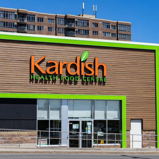 """""""Kardish Health Food Centre grocery store in Ottawa"""" stock image"""