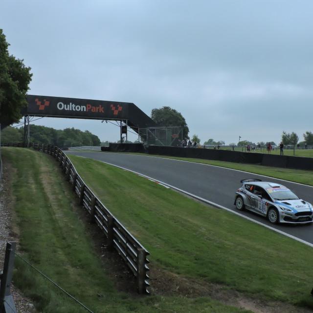 """""""Oulten Park Race Circuit"""" stock image"""