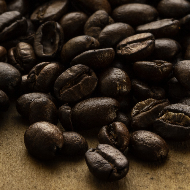 """""""Roasted coffee beans"""" stock image"""