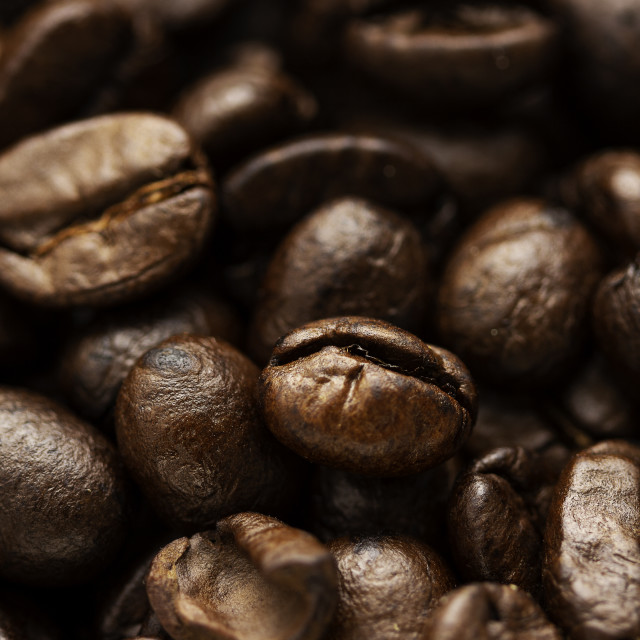 """""""Close-up of coffee beans"""" stock image"""