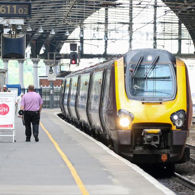 """""""Train at Darlington"""" stock image"""