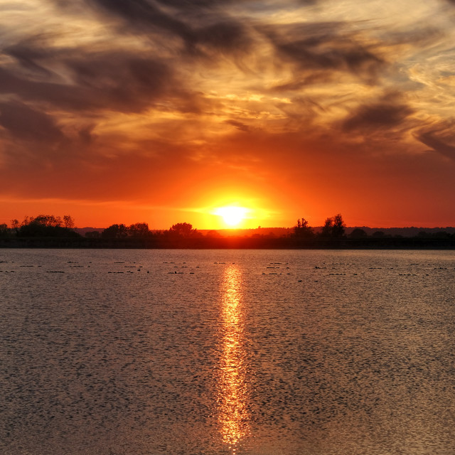 """""""Sunset at Tring res"""" stock image"""