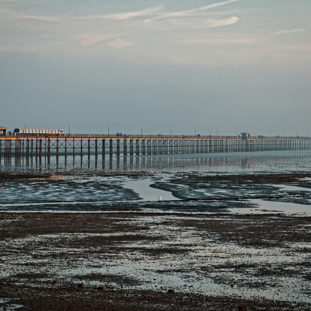 """Southend Pier, Southend-on-Sea, Essex, Britain"" stock image"