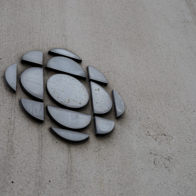 """CBC logo on a concrete wall in Ottawa"" stock image"
