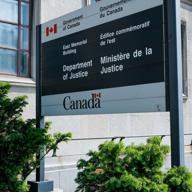 """""""Canadian Department of Justice in Ottawa, Canada"""" stock image"""
