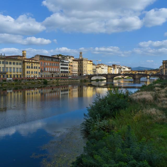 """Elegance Along the Arno"" stock image"