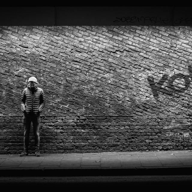 """London Tunnel Graffiti"" stock image"