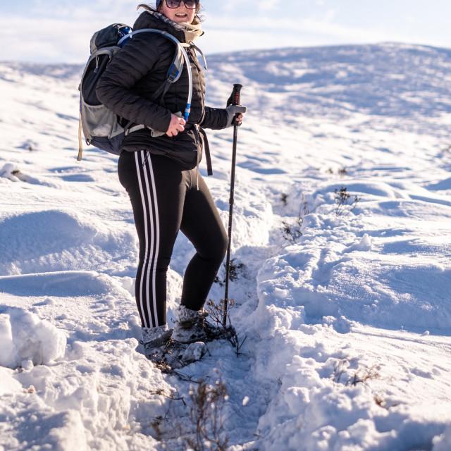 """""""Snow Hike"""" stock image"""