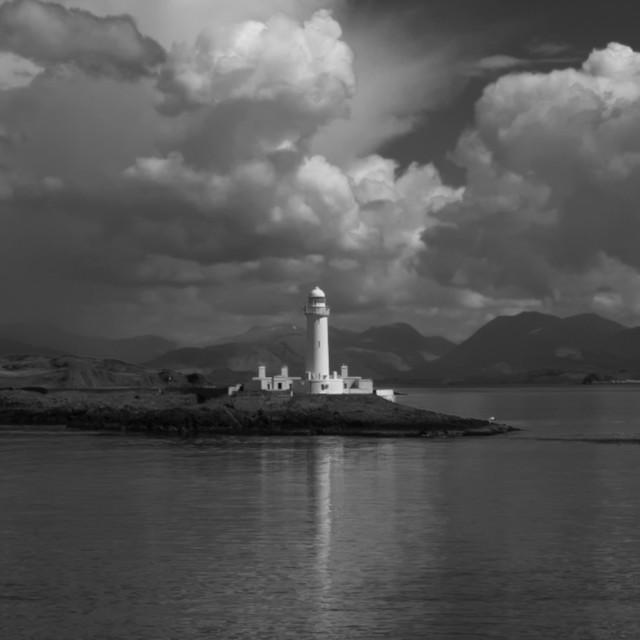 """""""MY WORLD - LISMORE LIGHTHOUSE, OBAN, SCOTLAND"""" stock image"""