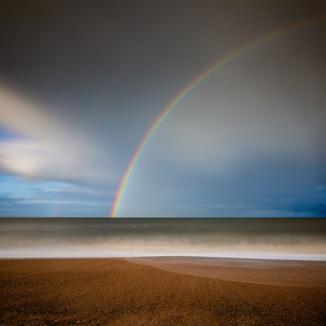 """""""At the End of the Rainbow"""" stock image"""