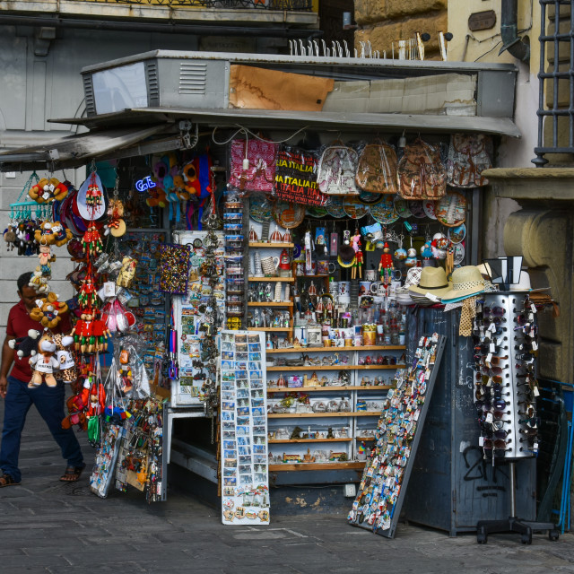 """""""Gift Shop in Florence"""" stock image"""
