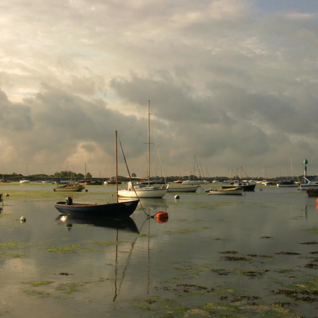 """Emsworth Harbour"" stock image"